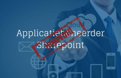Applicatiebeheerder Sharepoint ingevuld